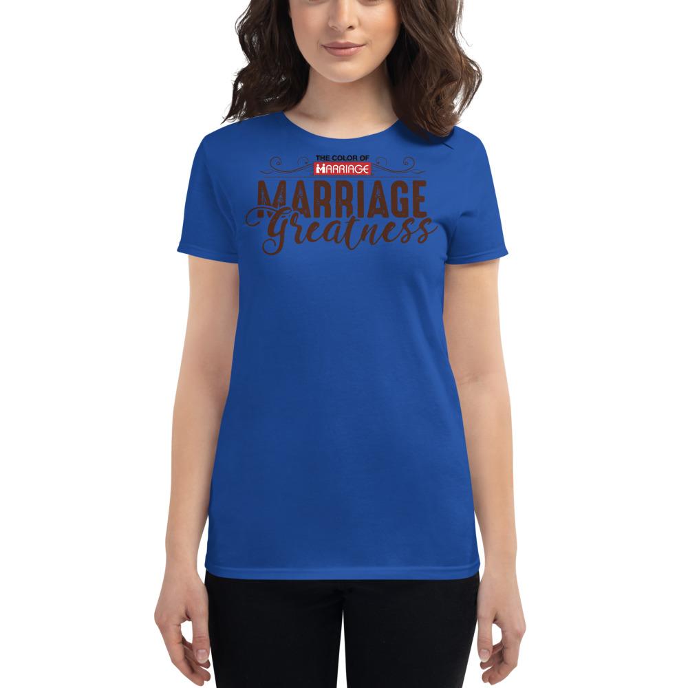 Womens MG Royal Blue Tshirt-2